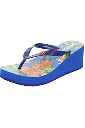 Desigual Desigual Damen Shoes LOLA Tropical Zehentrenner, Blau (Azul Lovely 5099)