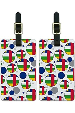 Graphics and More Graphics & More C-Zentralafrikanische Republik Nationalflagge (Weiß) - Luggage.Tags.09712