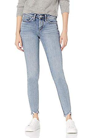 Silver Silver Jeans Co. Damen Suki Curvy Fit Mid Rise Skinny Jeans 27W x 29L