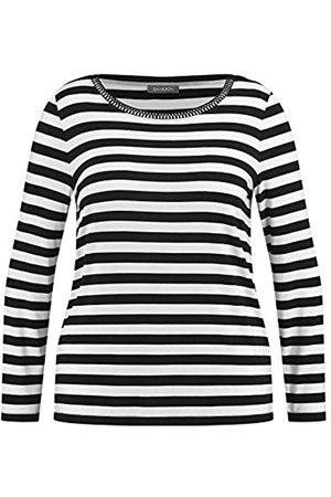 Samoon Damen Ringel-Shirt mit Ziersteinen leger