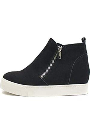 Soda Taylor versteckter Keilabsatz, modische Sneaker-Schuhe mit seitlichem Reißverschluss
