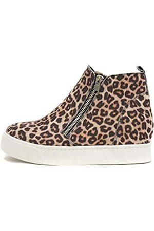 Soda Taylor versteckter Keilabsatz, modische Sneaker-Schuhe mit seitlichem Reißverschluss, (Haferflocken Gepard)