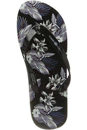 Heybrid Heybrid HONOLULU Unisex Flipflop, schwarz-graues Blumen-Muster