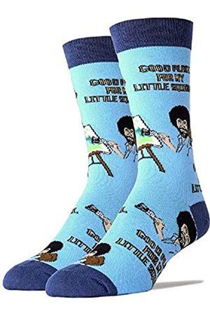 ooohyeah Herren Neuheit Crew Socken Exklusiv für Bob Ross Oooh Yeah Lustige Socken Weihnachten Socken Kleid Baumwollsocken - - Einheitsgröße