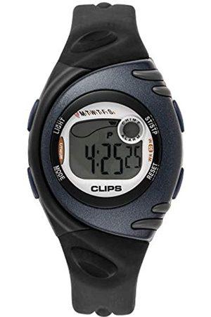 CLIPS Damen digitaluhr mit Kautschuk Armband