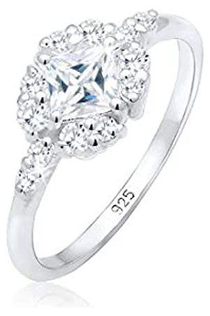 Elli Elli PREMIUM Ring Damen Verlobung Zirkonia Steine Romantisch in 925 Sterling