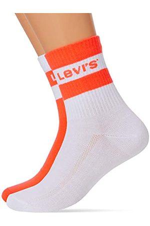 Levi's Herren Socken & Strümpfe - Unisex-Adult Logo Stripe Cut (2 Pack) Short Sock
