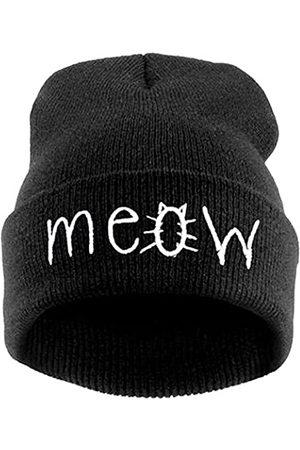 Beurio Herren Hüte - Slouchy Beanie Winter Knit Skull Mütze für Damen Herren mit Meow - - Einheitsgröße