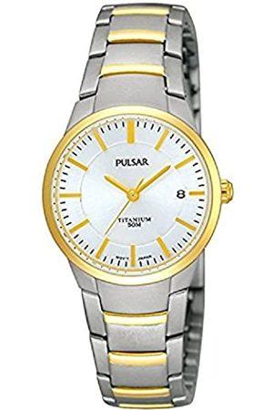 Pulsar Pulsar Quarz Damen-Uhr Titan mit Goldauflage mit Metallband PH7128X1