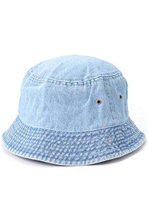 MIRMARU Vintage 100% Baumwolle Canvas Denim Bucket Hat - Casual Outdoor Angeln Wandern Safari Boonie Hut - - L/XL