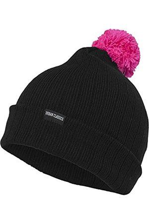 Urban classics Urban Classics Unisex Ohrenschützer Wintermütze Neon Contrast Bobble Beanie mehrfarbig (Black/Pink) One Size