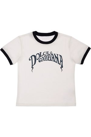 DOLCE & GABBANA T-shirt Aus Baumwolljersey Mit Logodruck