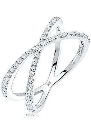 Elli Elli Ring Damen Wickelring X mit Zirkonia Kristallen in 925 Sterling Silber