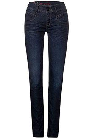 Street one Street One Damen Jeans Hose STYLE JANE Regular Waist Bequeme Passform enganliegend Denimjeans Blau W26/L30