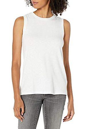 Daily Ritual Cotton Modal Stretch Slub Muscle-Sleeve Swing Tunic Tank-top-and-cami-Shirts