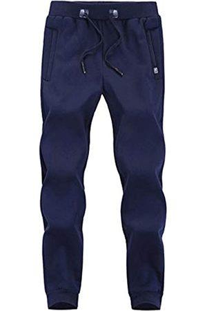 Flygo Herren Winter Warm Fleece Jogger Pants Sherpa Gefüttert Sweatpants Active Track Pants - - X-Klein