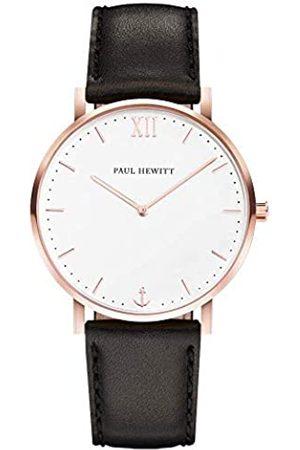 Paul Hewitt PAUL HEWITT Armbanduhr Damen Sailor Line White Sand - Damen Uhr (Rosegold), Damenuhr mit Lederarmband in Schwarz