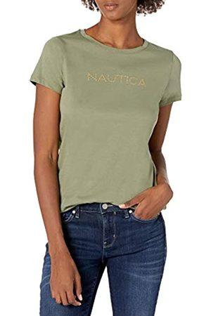 Nautica Damen Women's Easy Comfort Supersoft 100% Cotton Classic Logo T-Shirt