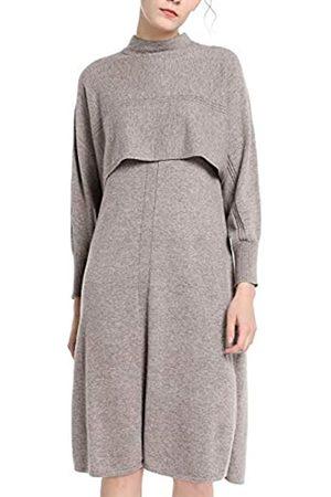 Apart APART trendiges Damen Kleid, Strickkleid, 2-in-1-Look, Oberteil in Cape-Optik, seitlich geschlitzt