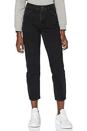 Noisy May Damen Nmisabel Hw Ankl Mom Jns Ki049bl Bg Noos Jeans, Black