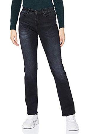 Herrlicher Damen Super G Straight Reused Denim Black Jeans