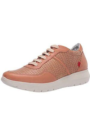 Marc Joseph New York Damen Leather Luxury Fashion Sneaker Wedge Turnschuh, Hellbraune Nappa Soft/Krokodil