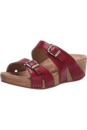 Dansko Women's Leeann Red Slide Sandal 5.5-6 M US