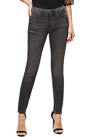 s.Oliver S.Oliver BLACK LABEL Damen Slim Fit: Jeans mit Schmucksteinen grey 42.32