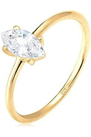Elli Elli Ring Damen Verlobung Marquise mit Zirkonia Steinen Stein in 925 Sterling Silber