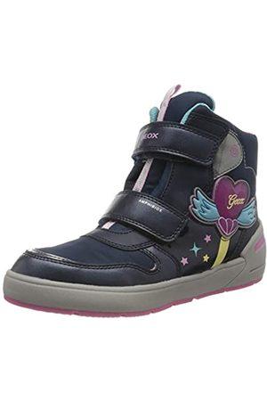 Geox J Sleigh Girl B ABX Snow Boot, Navy/Fuchsia