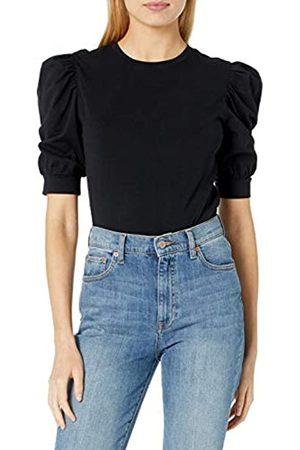 THE DROP Damen T-Shirt Mariko, Puffärmel, Rundhals, Stretch-Jersey