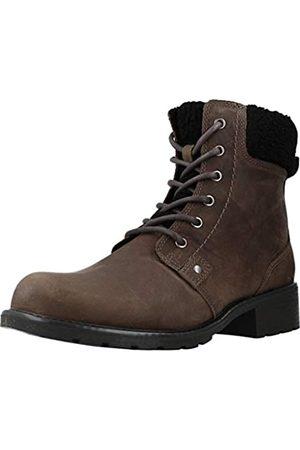 Clarks Mädchen Orinoco Dusk Biker Boots, (Dark Grey Leather)