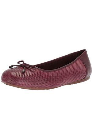 SOFTWALK Damen Ballerinas Napa geprägt, Violett (burgunderfarben)