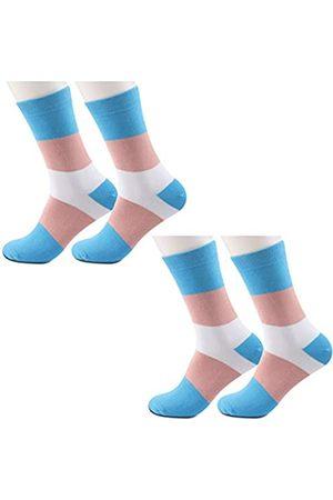 JXGZSO Herren Socken & Strümpfe - 2 Paar Transgender Pride Flagge Socken LGBTQ Geschenke Queer Pride Trans Flag Tube Socken Transgender Geschenk - - Einheitsgröße