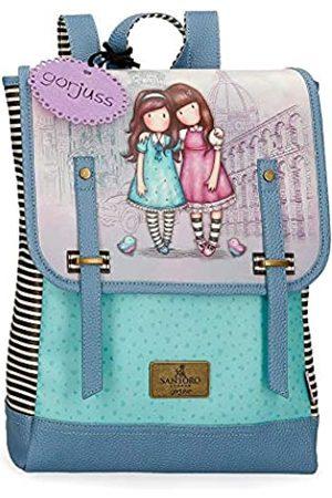 Gorjuss Santoro Gorjuss Friends Walk Together Laptop-Rucksack Violett 29x38x9 cms Synthetisches Leder 13