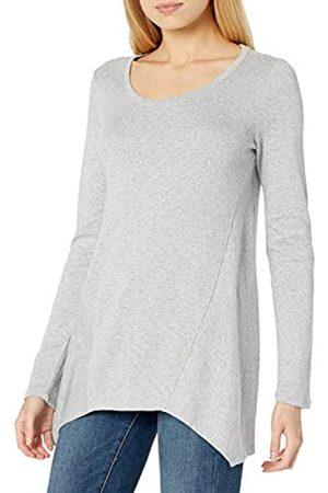 Daily Ritual Damen Longsleeves - Cotton Modal Stretch Slub Long-Sleeve Seamed Top Fashion-t-Shirts