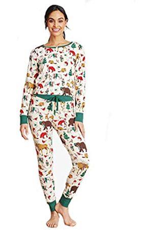 Hatley Damen Schlafanzüge - Little Blue House by Damen Long Sleeve Printed Pyjama Set Pyjamaset