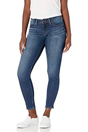Silver Silver Jeans Co. Damen Suki Curvy Fit Mid Rise Skinny Jeans