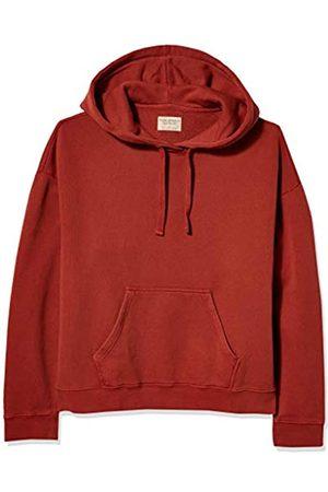 Nudie Jeans Damen Sweatshirts - Damen Stina Hoodie Kapuzenpulli, -Burnt Red