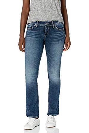 Silver Silver Jeans Co. Damen Elyse Curvy Mid Rise Slim Fit Bootcut Jeans