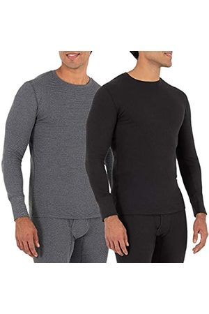 Fruit Of The Loom Fruit of the Loom Herren Recycled Waffle Thermal Underwear Crew (1 and 2 Packs) Pyjama-Oberteil (Top)