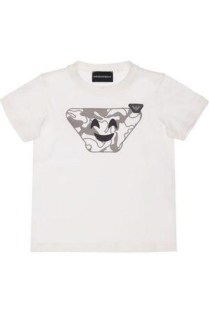 Emporio Armani Bedrucktes T-shirt Aus Baumwolljersey