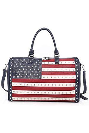 Montana West Montana West Reisetasche mit amerikanischer Flagge, groß, für Damen und Herren, Marineblau