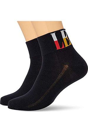 Levi's Herren Socken & Strümpfe - Unisex-Adult Split Tall Logo Mid Cut Socks (2 Pack) Sneaker