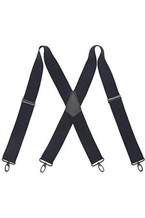 Hesenhan Herren Hosenträger - Hosenträger für Herren, robust, mit 4 drehbaren Karabinerhaken, 5