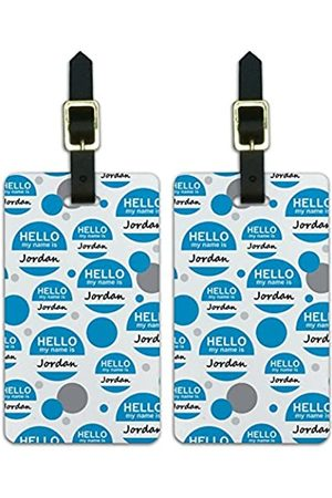 Graphics and More Graphics & More Jo-Ju-Jordan Hello My Name is (Weiß) - Luggage.Tags.12069