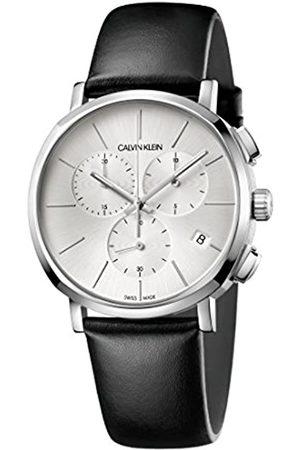 Calvin Klein Calvin Klein Herren Chronograph Quarz Uhr mit Leder Armband K8Q371C6