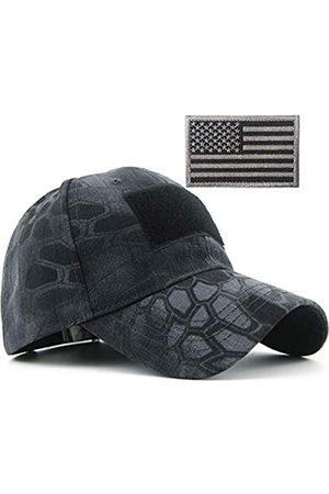 REDSHARKS REDSHARKS Schlange Camouflage Camo Baseball Cap mit amerikanischer Flagge USA Tactical Operator Army Military Hat für Schießen