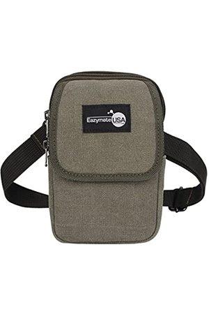 EAZYMATE EAZYMATE Kleine Freizeit-Tasche aus Segeltuch – Fanny Pack RFID Reisepass Halter (Grün) - .