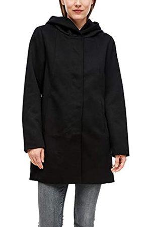 s.Oliver Damen Kapuzenmantel aus Interlockjersey black XL